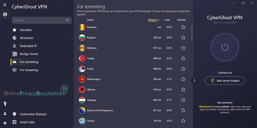 Cyberghost VPN downloaden met torrents Online pirvacy beschermen